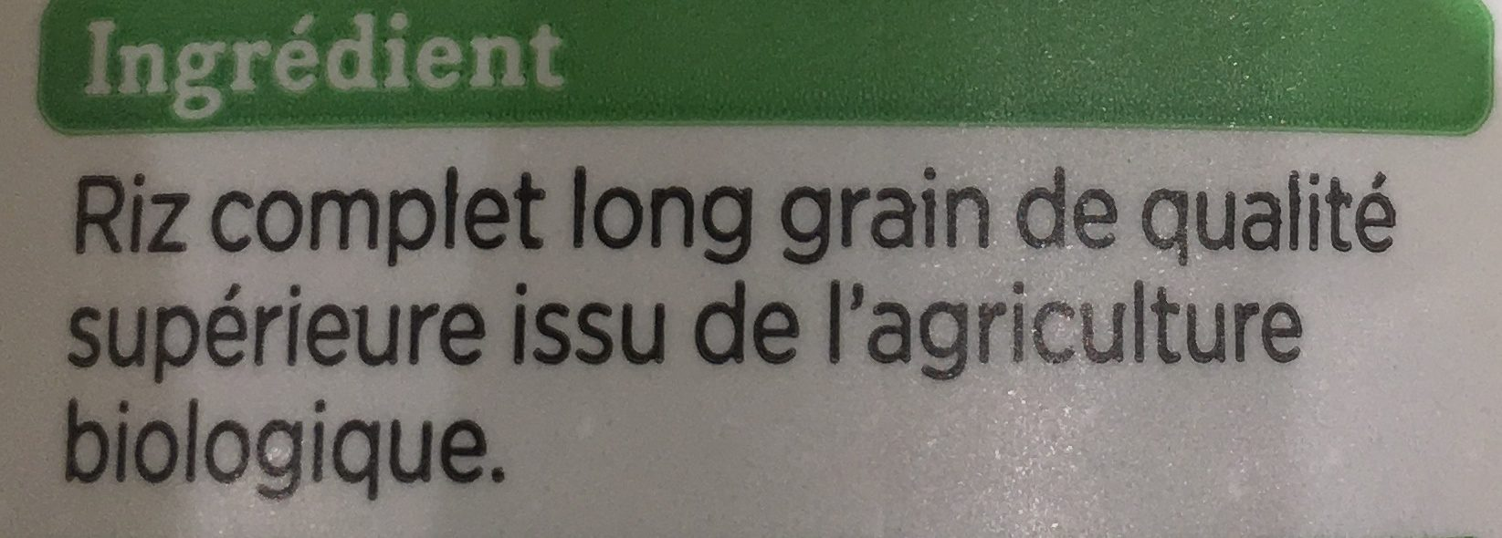 Riz Long Complet - Ingrédients - fr