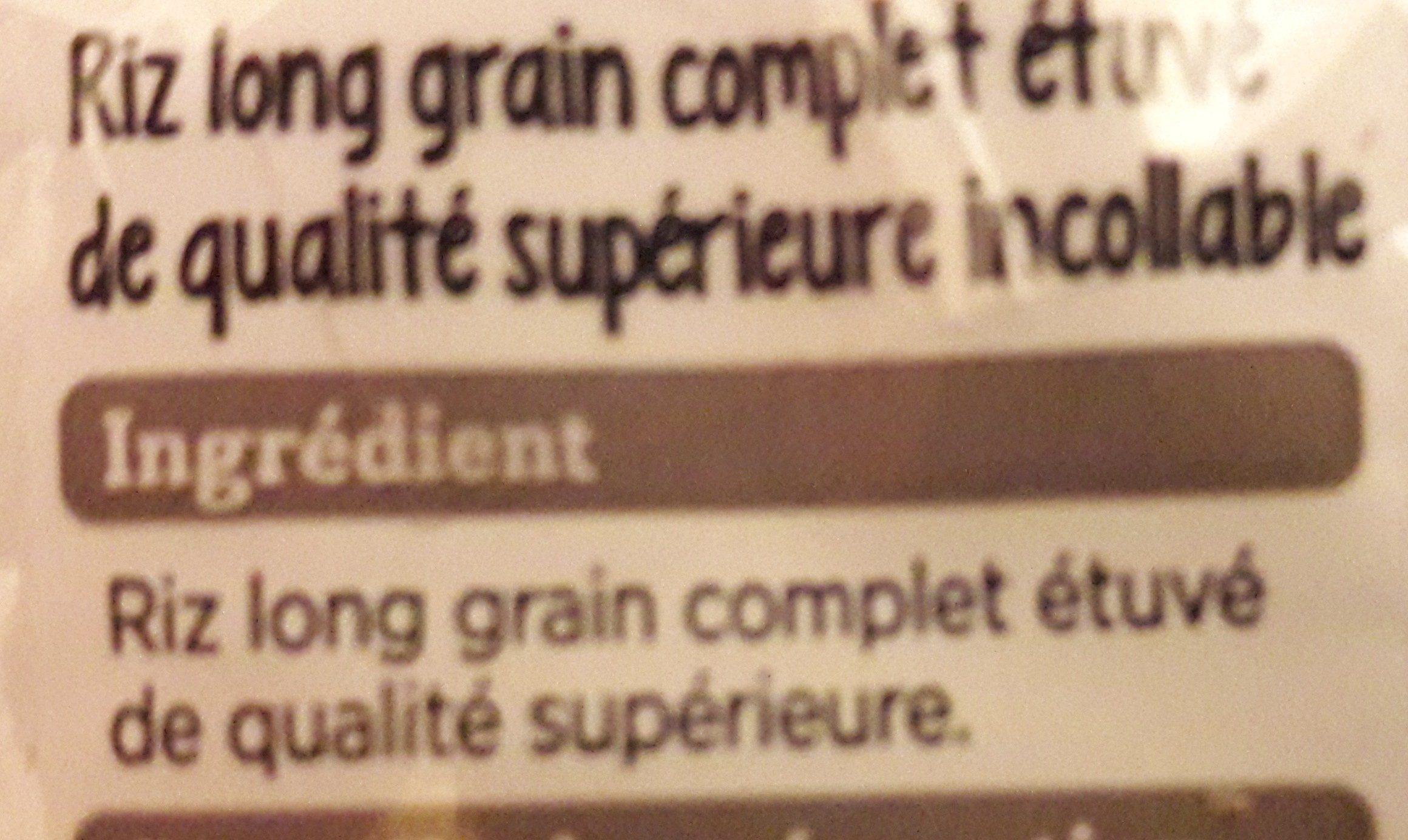 Riz complet qualité supérieure - Ingredients
