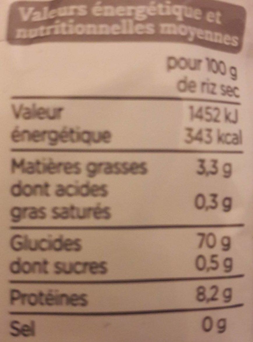 Riz complet qualité supérieure - Nutrition facts