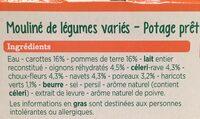 Mouliné Légumes Variés - Ingrediënten