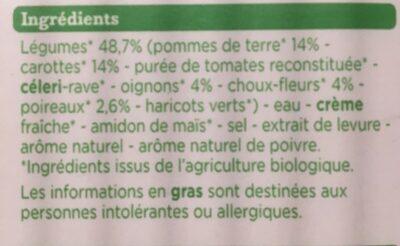 veloute legumes bio - Ingredienti - fr