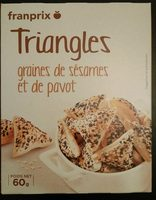 Triangles graines de sésames et de pavot - Product