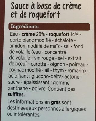 Sauce roquefort - Ingrédients - fr