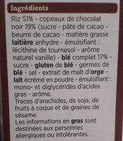 Pétales copeaux de chocolat - Ingredients