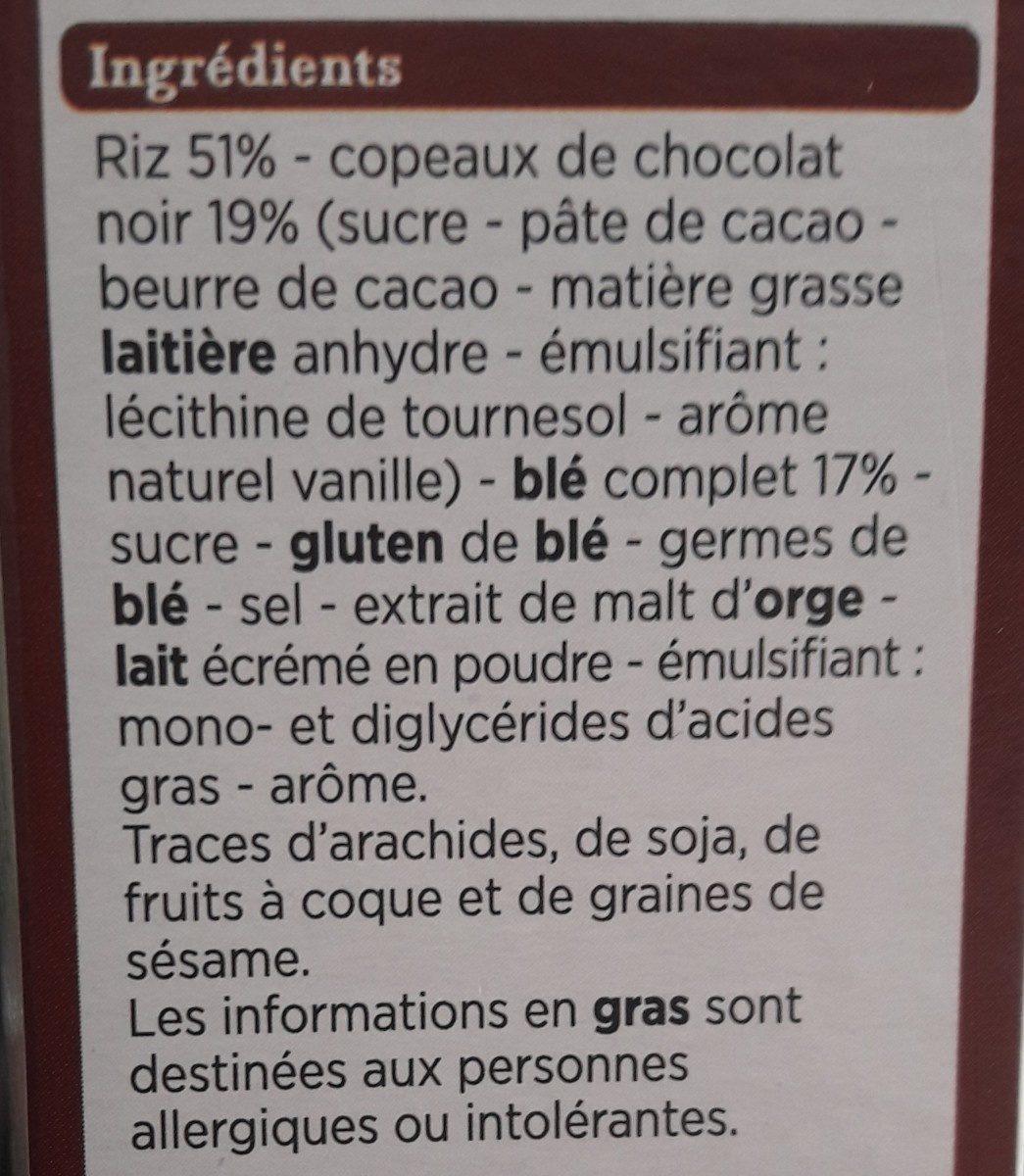 Pétales copeaux de chocolat - Ingrédients - fr