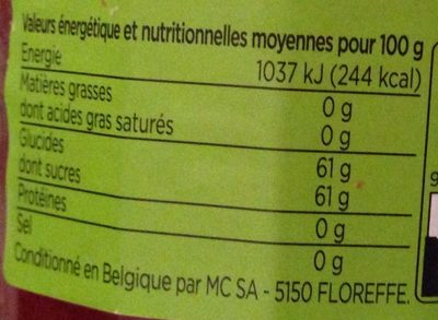Confiture Fraise - Nutrition facts