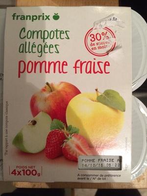 Compotes allégées Pomme Fraise - Product
