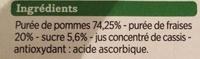 Compotes allégées Pomme Fraise - Ingredients