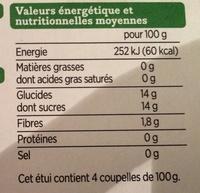 Compotes allégées Pomme Fraise - Nutrition facts