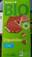 Chocolat au lait dégustation bio - Product