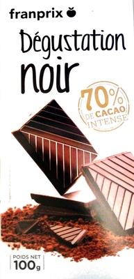 Dégustation noir 70% de cacao intense - Produit - fr