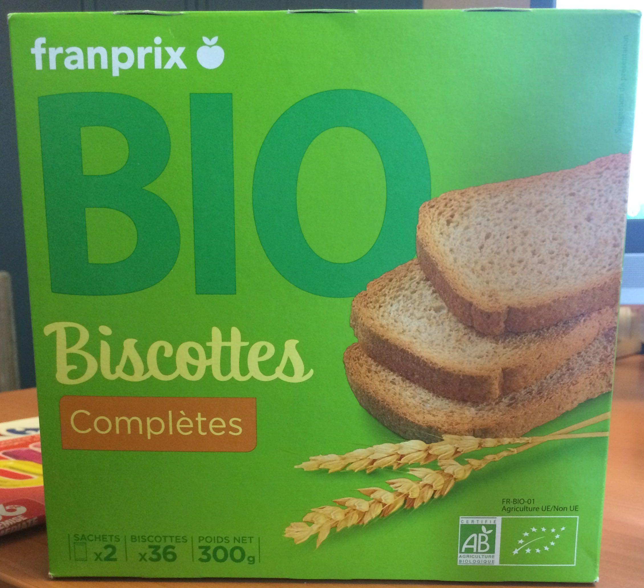 Biscottes Complètes Bio - Product