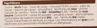 Brownie chocolat noisettes - Ingredients - fr