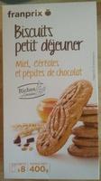 Biscuits Petit Déjeuner Miel, Céréales et Pépites de Chocolat - Product
