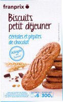 biscuits petit dejeuner allégés en sucre - Produit - fr