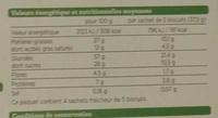 Sablés céréales chocolat noir - Voedingswaarden - fr