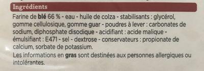 Tortillas de blé - Ingrédients