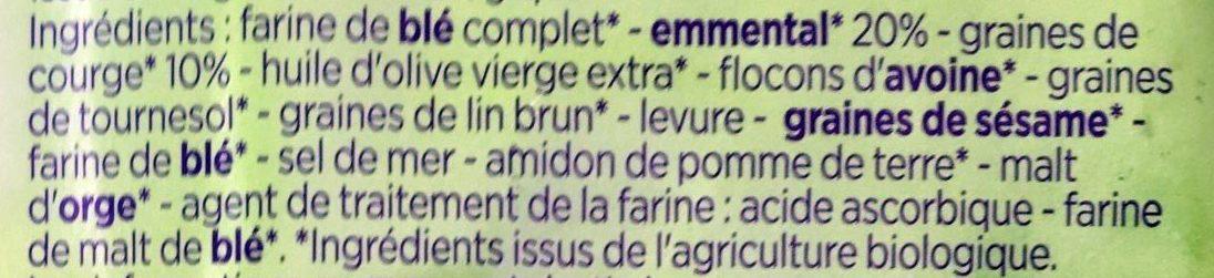 Crakers Emmental et graines de courge - Ingrédients - fr