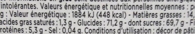 Pralines aux amandes extra - Nutrition facts