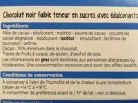 Degustation Noir Faible Teneur En Sucres - Ingrédients