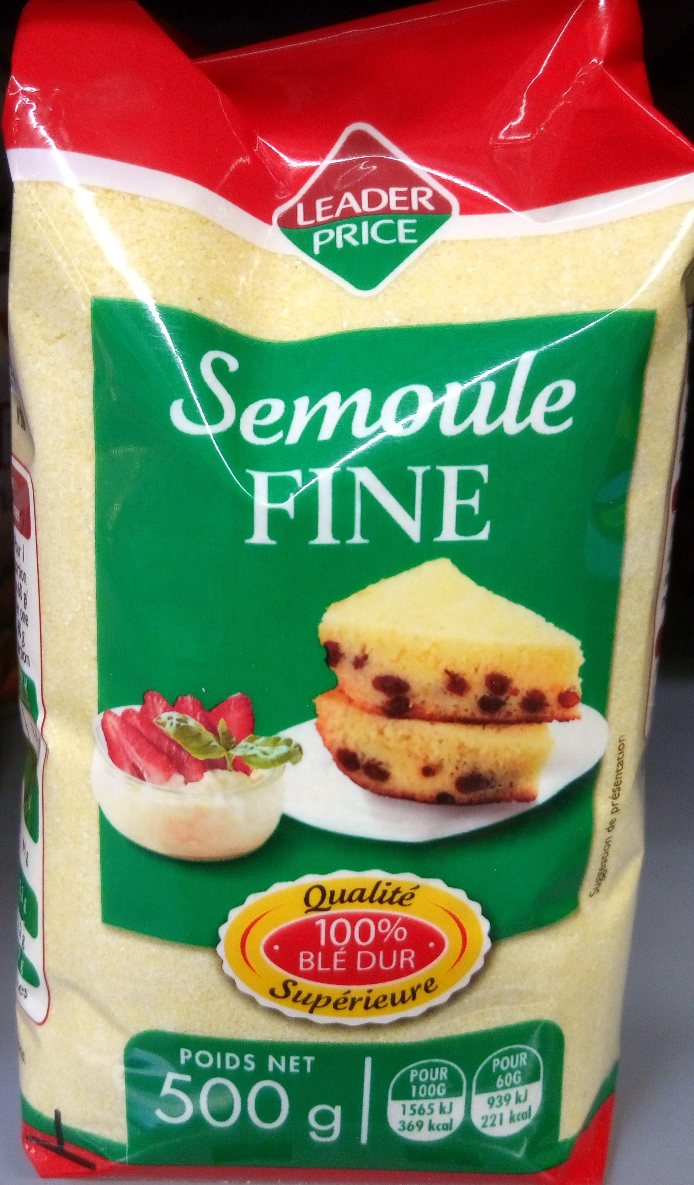 Semoule Fine (100 % Blé dur) - Product - fr