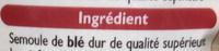 Semoule Fine (100 % Blé dur) - Ingredients - fr