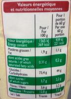 Semoule Fine (100 % Blé dur) - Nutrition facts - fr