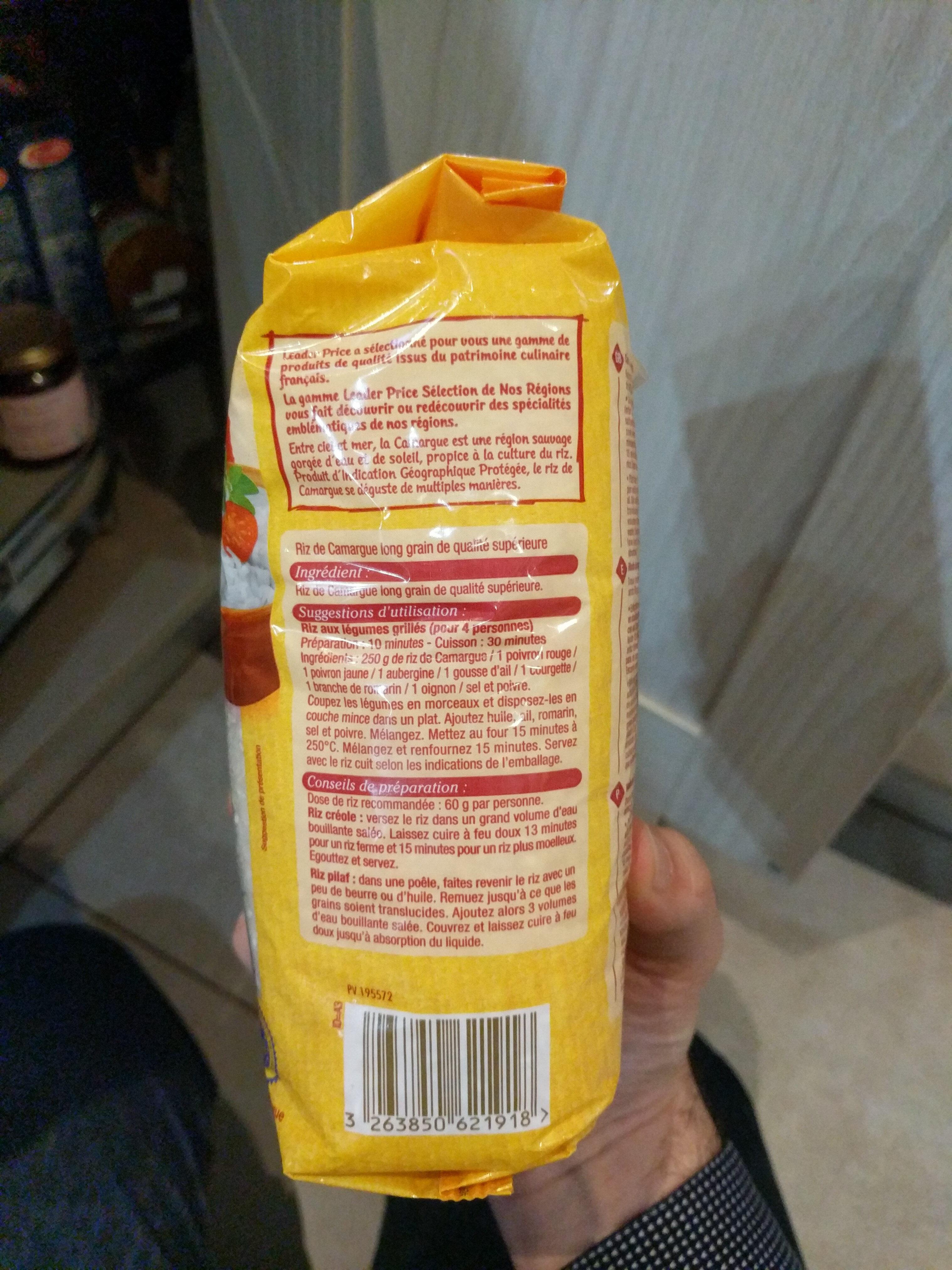 Riz De Camargue long grain - Ingrediënten - fr