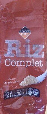 Riz Complet Étuvé - Prodotto - fr