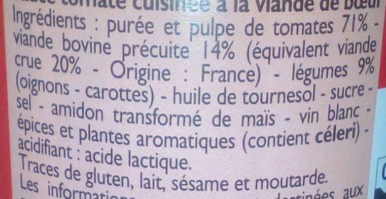 Sauce bolognaise - Ingrediënten