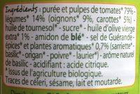 Sauce tomate provençale bio - Ingredients - fr