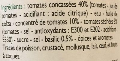 Sublime de tomates - Ingrediënten