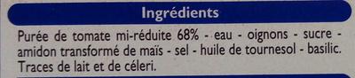 Sauce aux tomates fraîches - Ingrediënten - fr