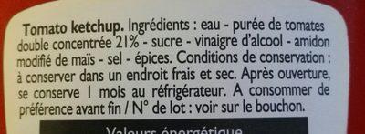 Ketchup - Ingredienti - en