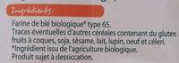 farine de blé bio - Ingredients - fr