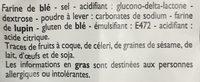 Pain Blanc preparation - Ingrédients - fr