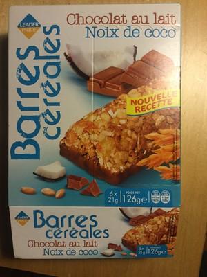 Barres cereales - chocolat au lait - noix de coco - 1