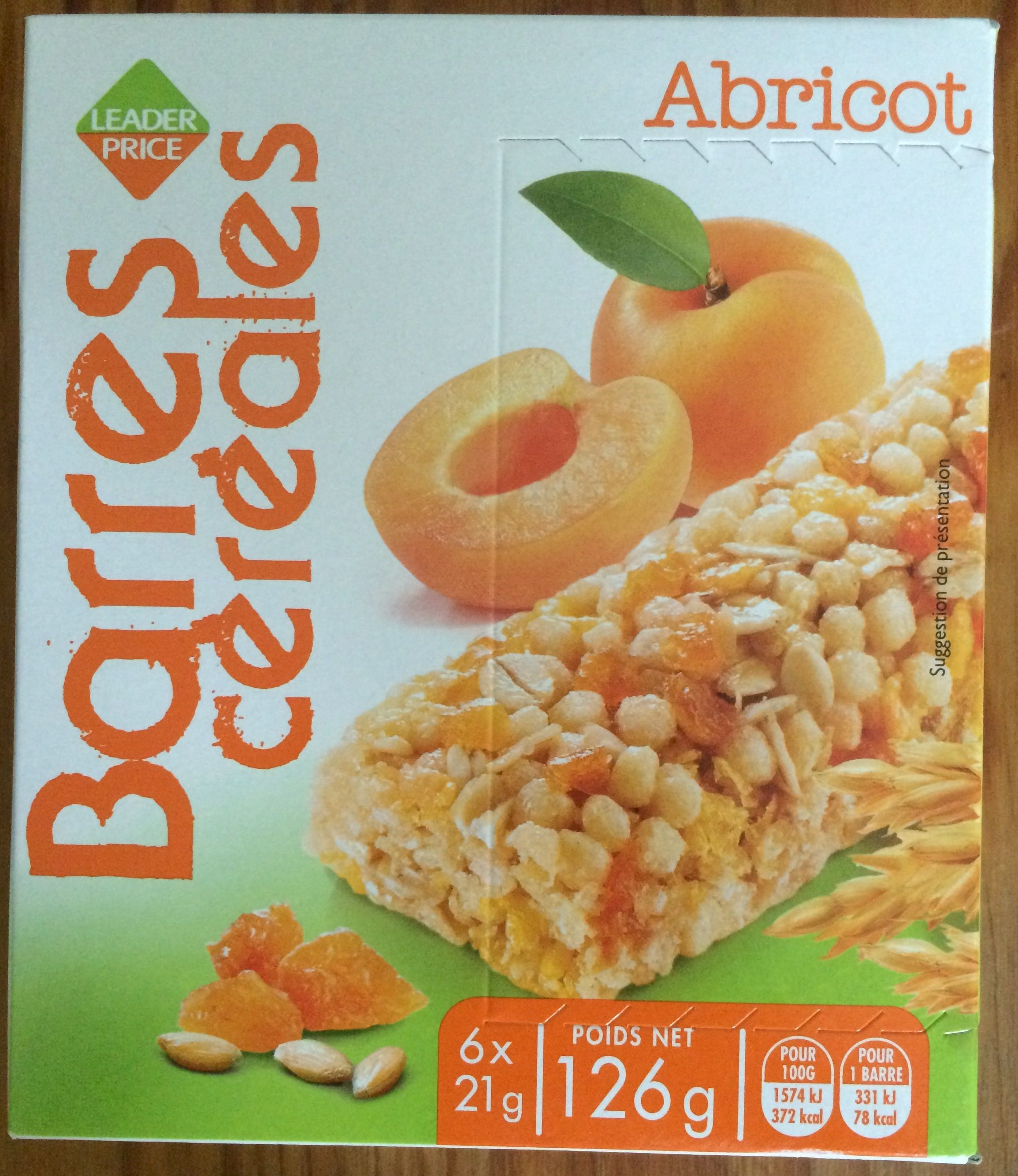 Barres céréales Abricot - Produit - fr