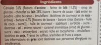 Barre de Céréales Chocolat au lait Banane - Ingrédients - fr