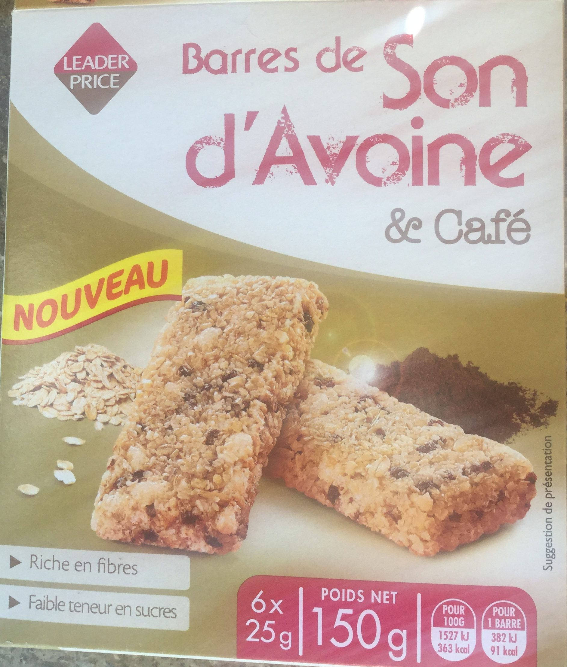 Barres de son d'avoine et café - Product