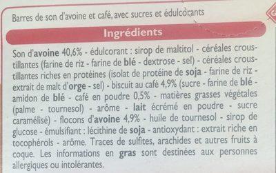 Barres de son d'avoine et café - Ingrediënten