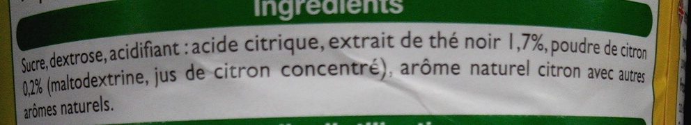 Thé citron - Ingredienti - fr