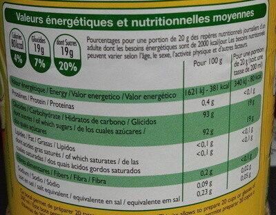 Thé citron - Valori nutrizionali - fr