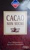 Cacao non sucré - Produit