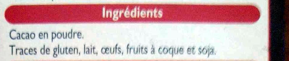 Cacao non sucré - Ingredientes - fr