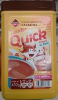 Poudre instantanée cacaotée Leader Quick - Produit - fr