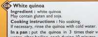 Quinoa blanc - Ingredients