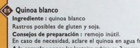 Quinoa blanc - Ingredientes