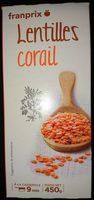 Lentilles corail - Product