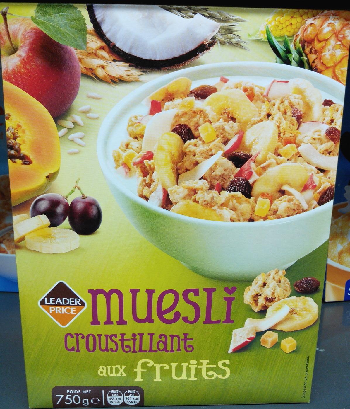 Muesli Croustillant aux fruits - Product - fr